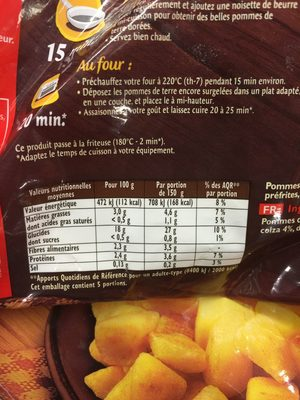 Pommes de terre coupees a l'ancienn - Produit