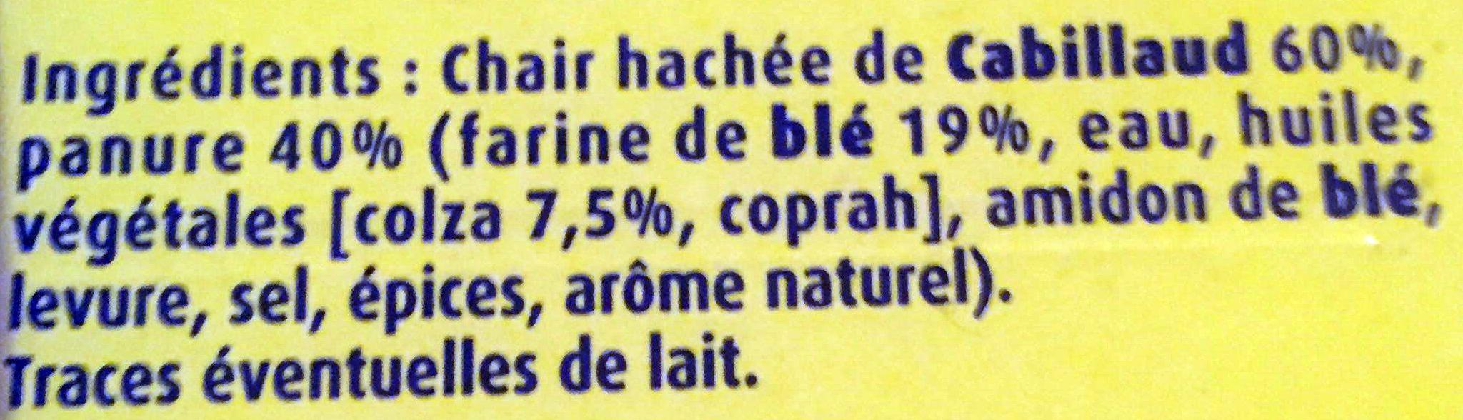 Croustibat Cabillaud - Ingredienti - fr
