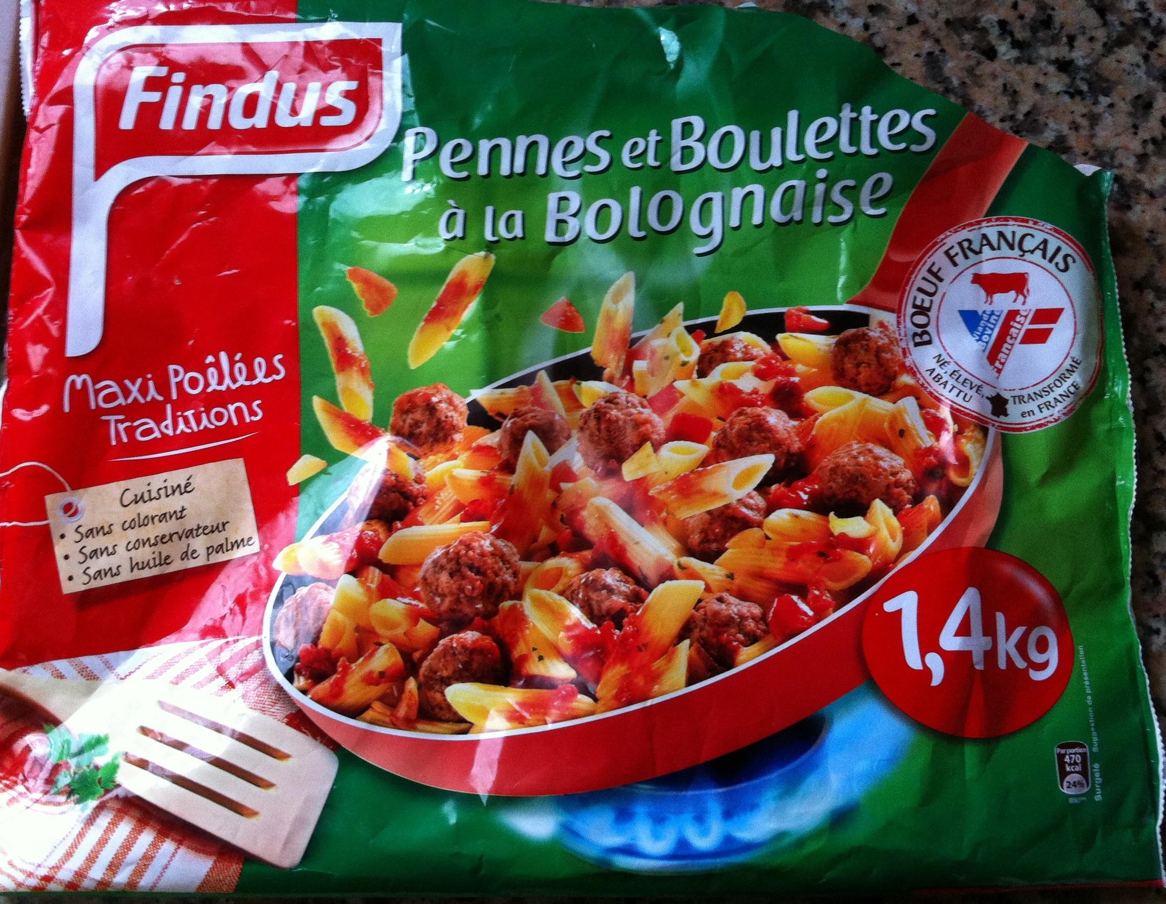 Pennes et Boulettes à la Bolognaise, Surgelés - Produkt - fr