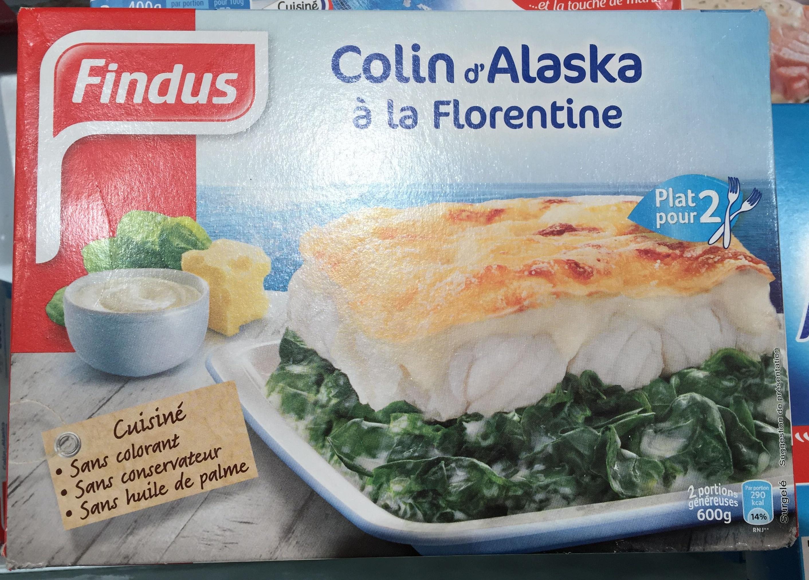 Colin d 39 alaska la florentine surgel findus 600 g - Cuisiner du colin surgele ...