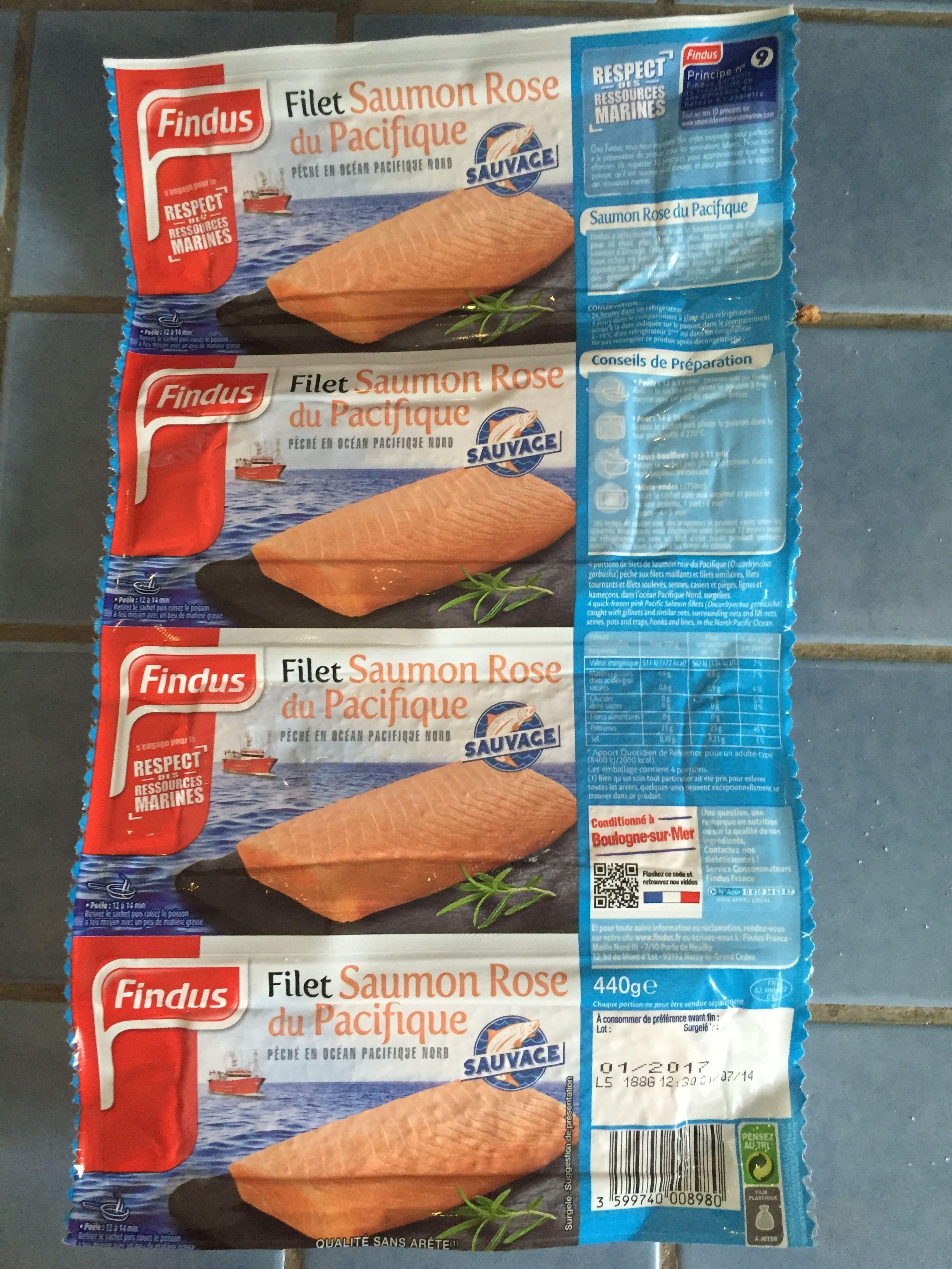 Filet Saumon Rose du Pacifique sauvage - Produit