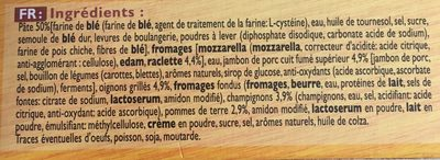 Findus speed pocket raclette x2 - Ingrédients - fr