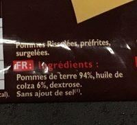 Pommes rissolées - Ingredienti - fr