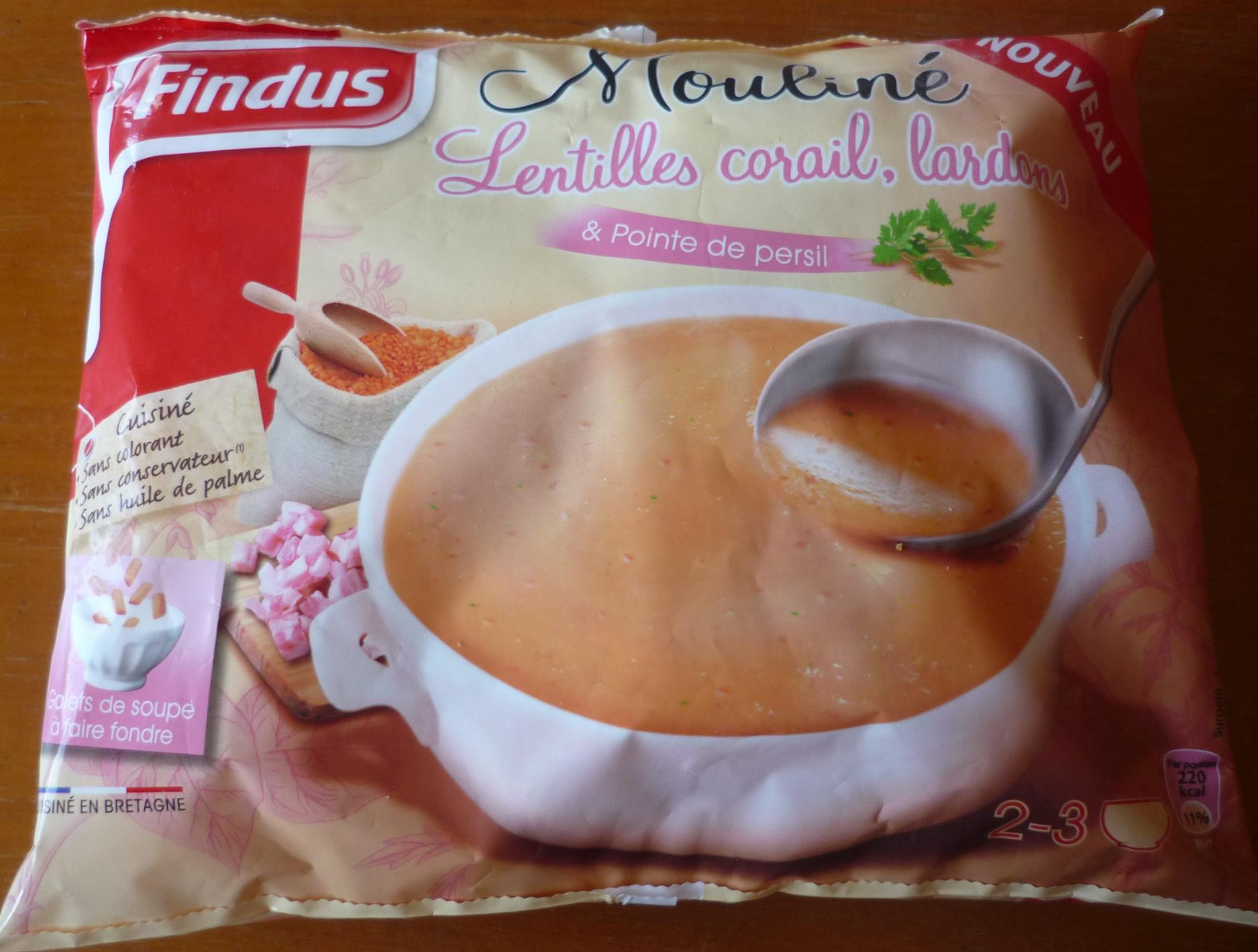 Mouliné lentilles corail, lardons & pointe de persil - Product