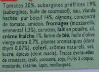 Moussaka (Pur Bœuf), Surgelé - Inhaltsstoffe - fr