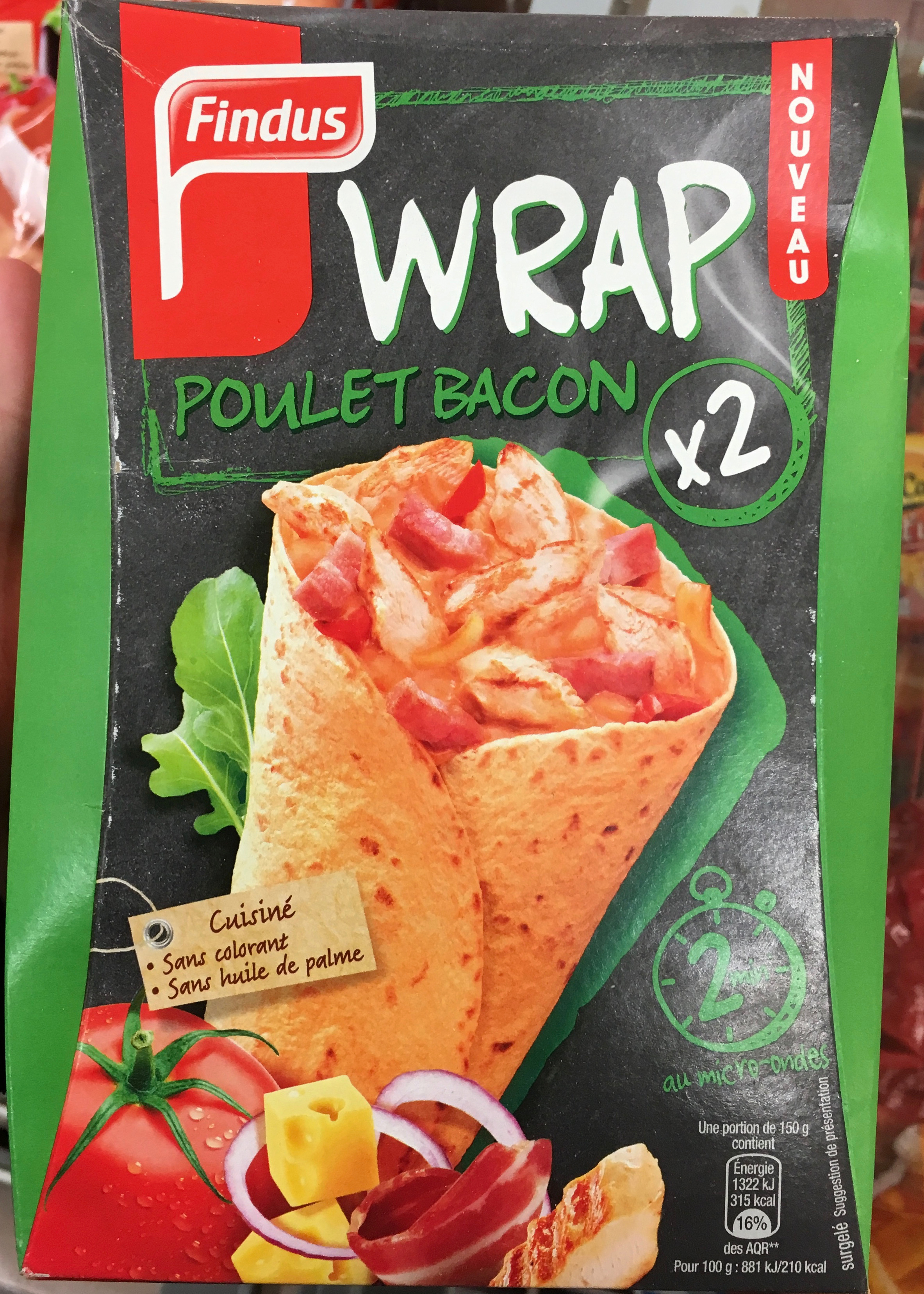 Wrap Poulet Bacon - Produit