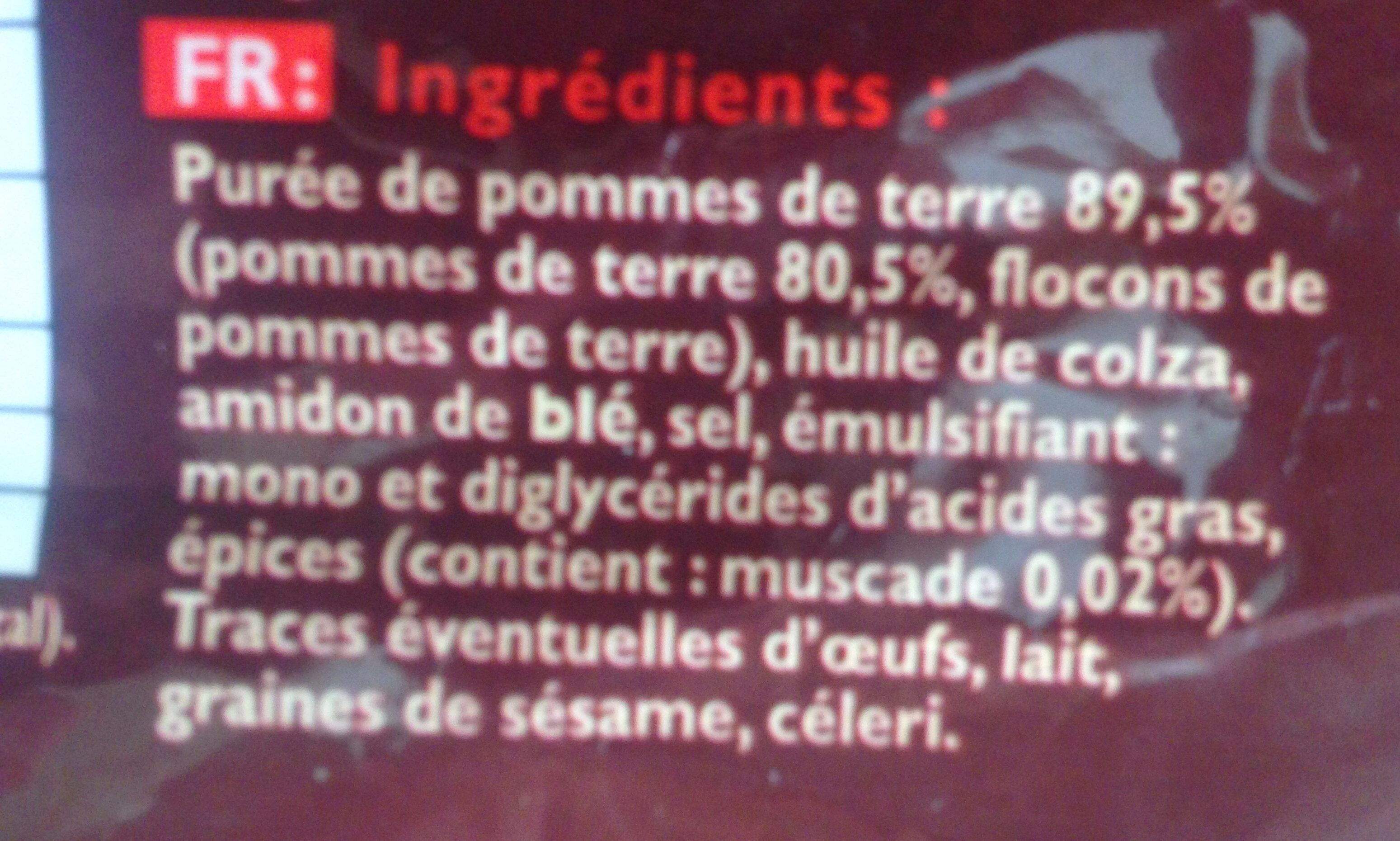 Pommes noisettes - Ingredients