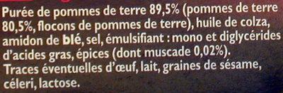 Pommes noisettes Findus - Ingredients