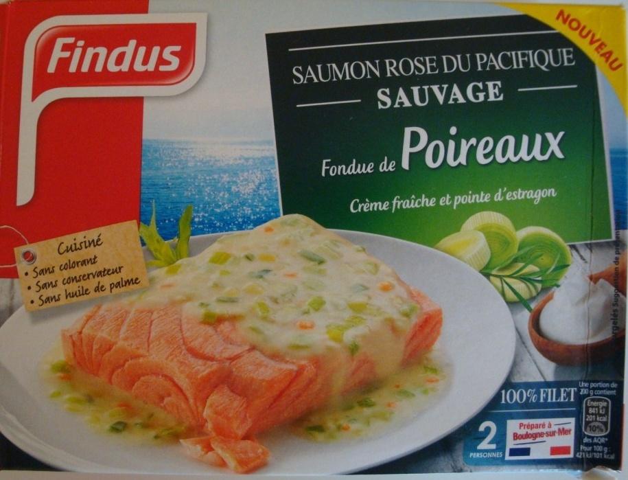 saumon rose du pacifique sauvage fondue de poireaux surgel findus 400 g. Black Bedroom Furniture Sets. Home Design Ideas