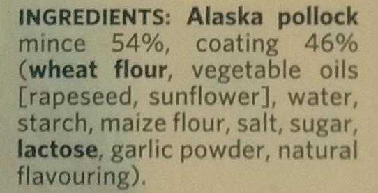 Crispies, 8 Portions de Colin d'Alaska - Ingredients - en