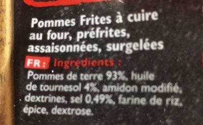 Findus frites au four la classique 600 g - Ingrédients - fr