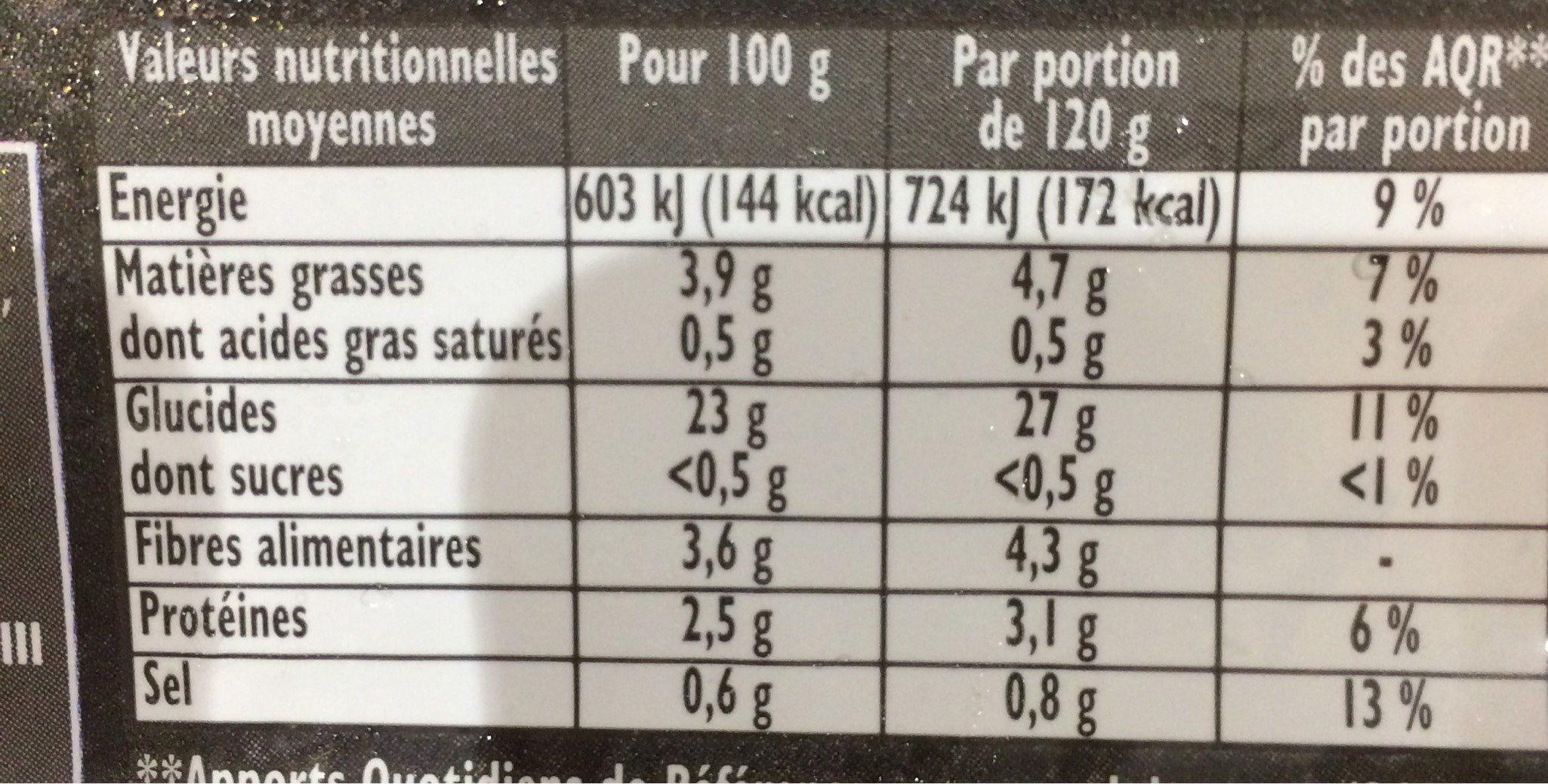Findus frites au four la classique 600 g - Informations nutritionnelles - fr