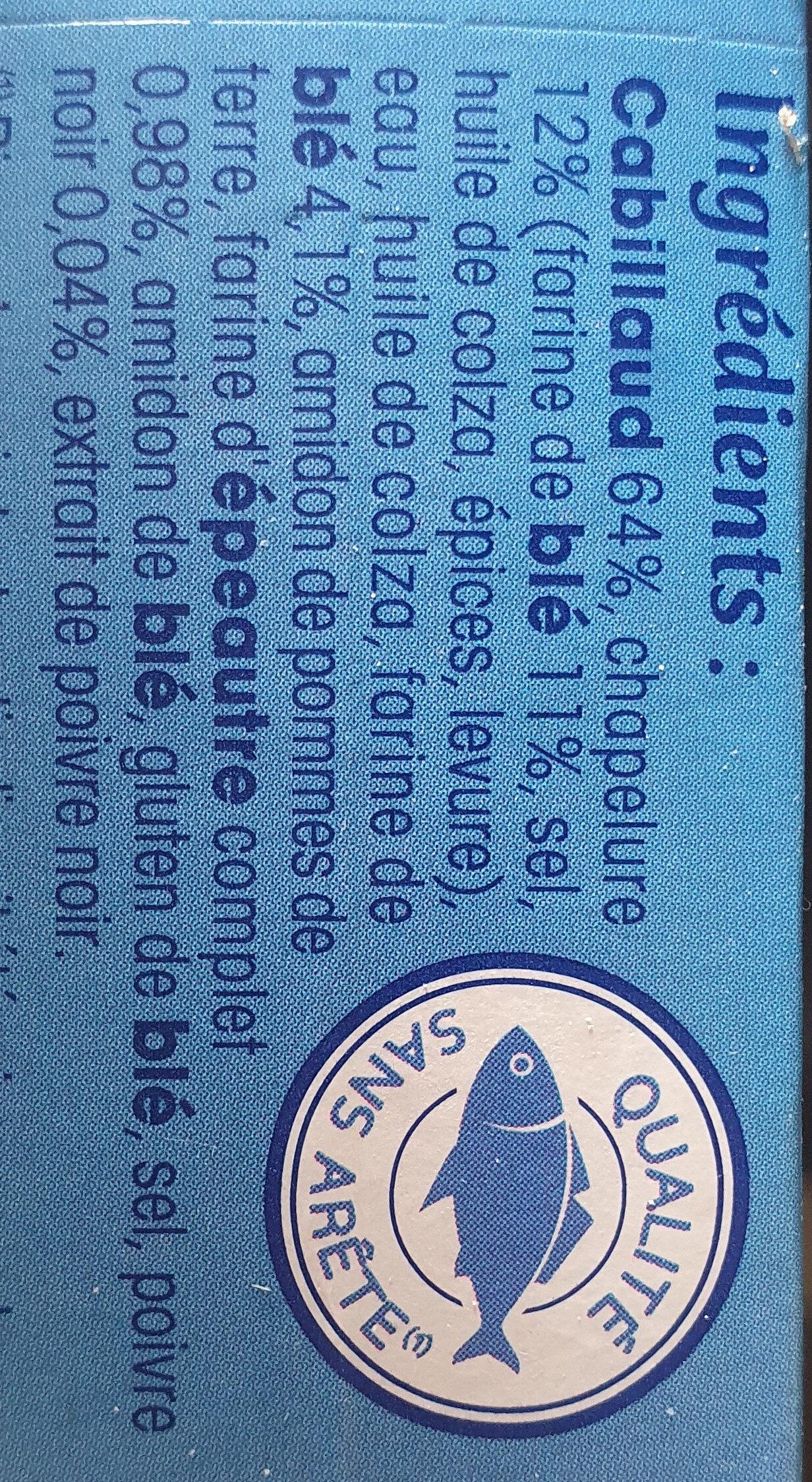 Cabillaud pané, qualité 100% filet - Ingrediënten - fr