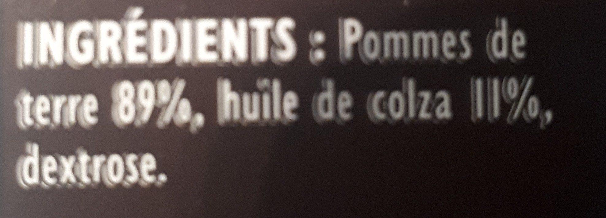 Frites Crousti' Expresse l'Allumette - Ingrédients - fr