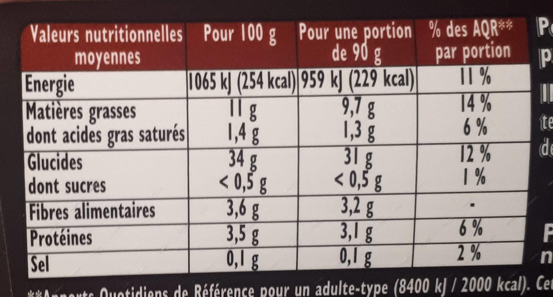 Frites Crousti' Expresse l'Allumette - Informations nutritionnelles - fr