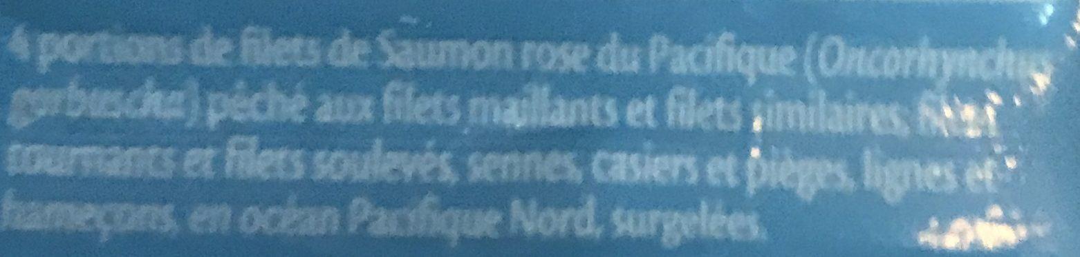 Filets Saumon rose du Pacifique MSC - Ingredients - fr