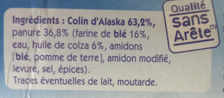 Colin d'alaska Pané - Ingredients - fr