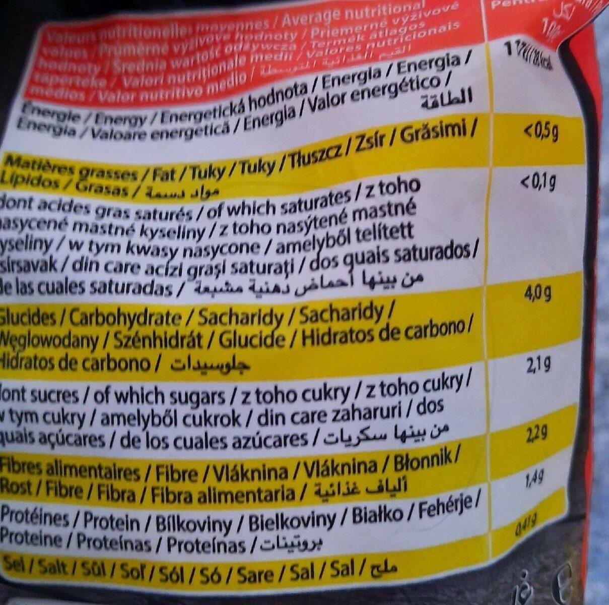 Wok spicy zanju - Voedingswaarden - fr