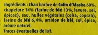 Bâtonnets Croustibat MSC - Ingredienti - fr
