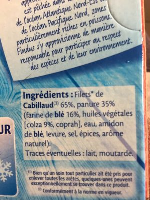 4 filets cabillaud - Ingredients