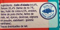 Colin d'Alaska Sans Gluten - Ingredienti - fr