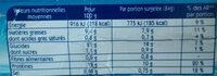 Bâtonnets Colin d'Alaska MSC - Informations nutritionnelles - fr