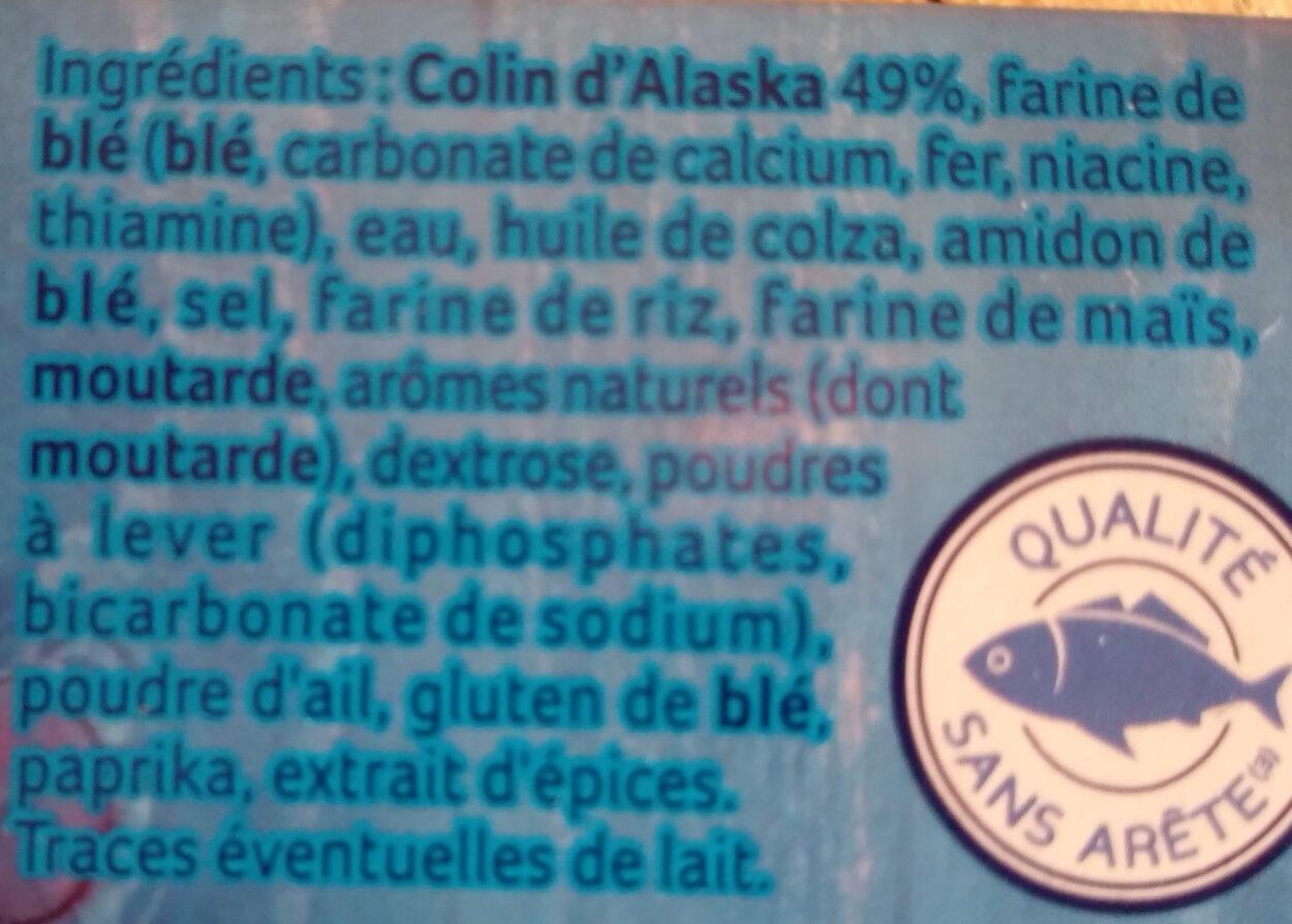 Colin d'Alaska MSC façon Fish & Chips - Ingredients - fr