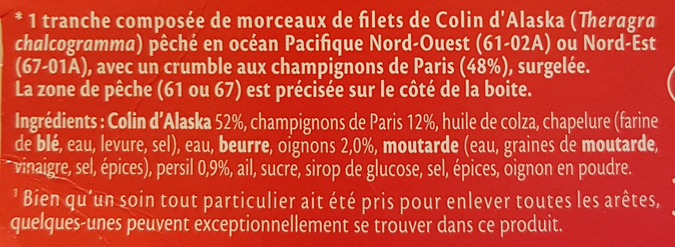 Gratinée à la Parisienne - Ingrédients