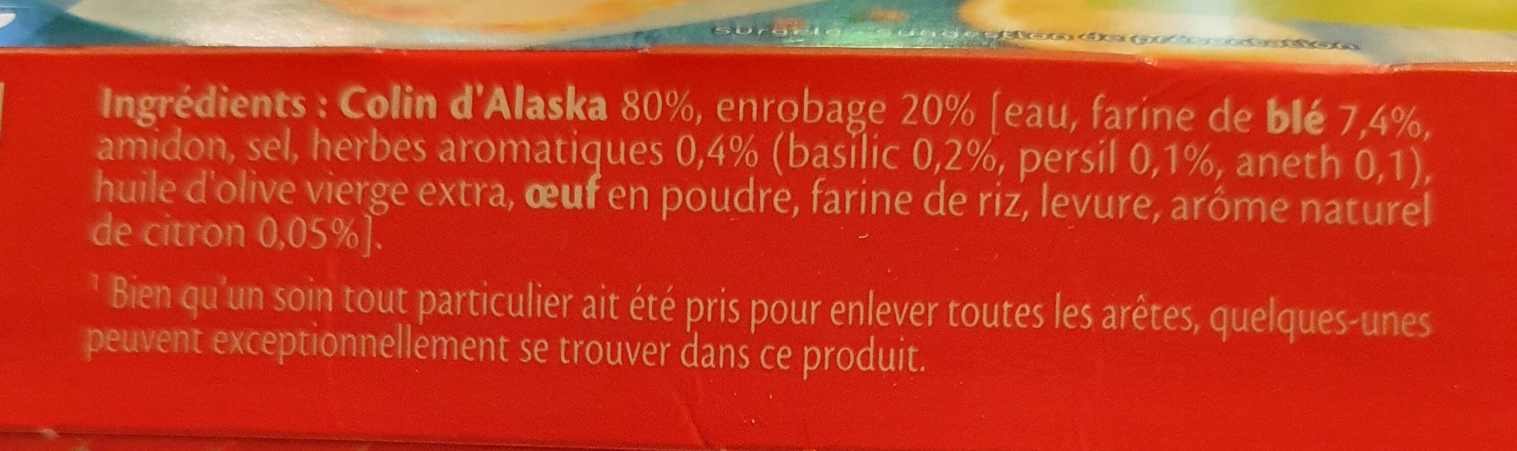 Filets de colin d'Alaska citron herbes fines - Ingrediënten - fr