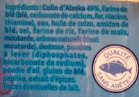 Colin d'Alaska façon Fish and chips saveur Salt & Vinegar - Ingrédients