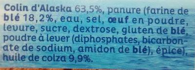Colin d'Alaska Extra croustillant MSC - Ingredienti - fr