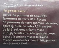Pommes noisette - Ingrediënten