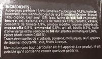 Moussaka de Boeuf - Ingrédients - fr