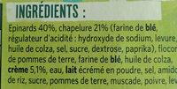 Bâtonnets croustillants Épinards - Ingredienti - fr