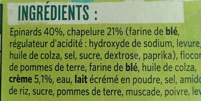 Bâtonnets croustillants Épinards - Ingredienti