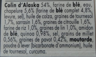 Colin d'Alaska 7 Céréales & Graines MSC - Ingrédients - fr