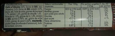 Colin d'Alaska 7 Céréales & Graines MSC - Informations nutritionnelles