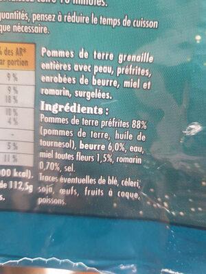 pommes grenaille - Ingrédients - fr