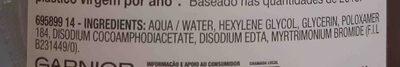 Garnier SkinActive Agua Micelar - Ingredients - en