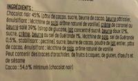 Caramel chocolat - Ingrédients