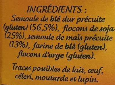 Céreales gourmandes - Ingrédients