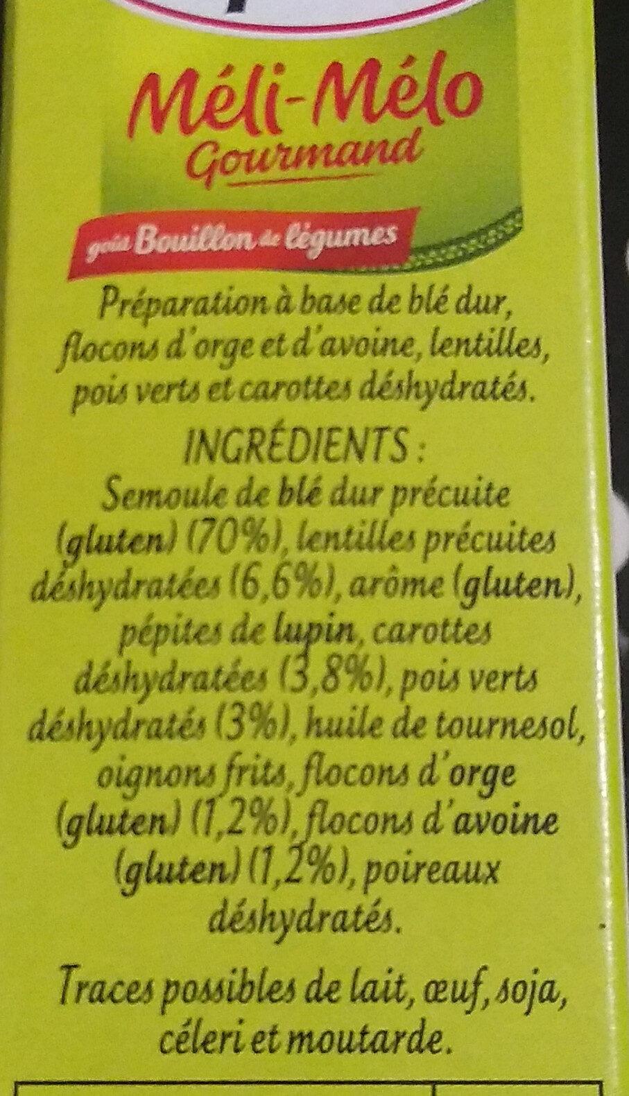 Méli mélo - Ingredienti - fr