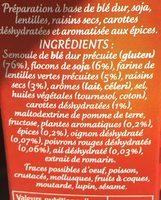 Graine de couscous à la Royale - Ingredients