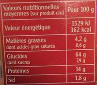 Graine de couscous à la Royale - Nutrition facts