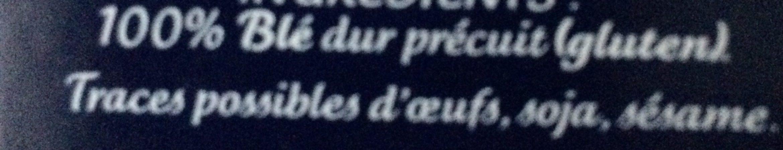 Boulgour Tradition - Ingrédients - fr