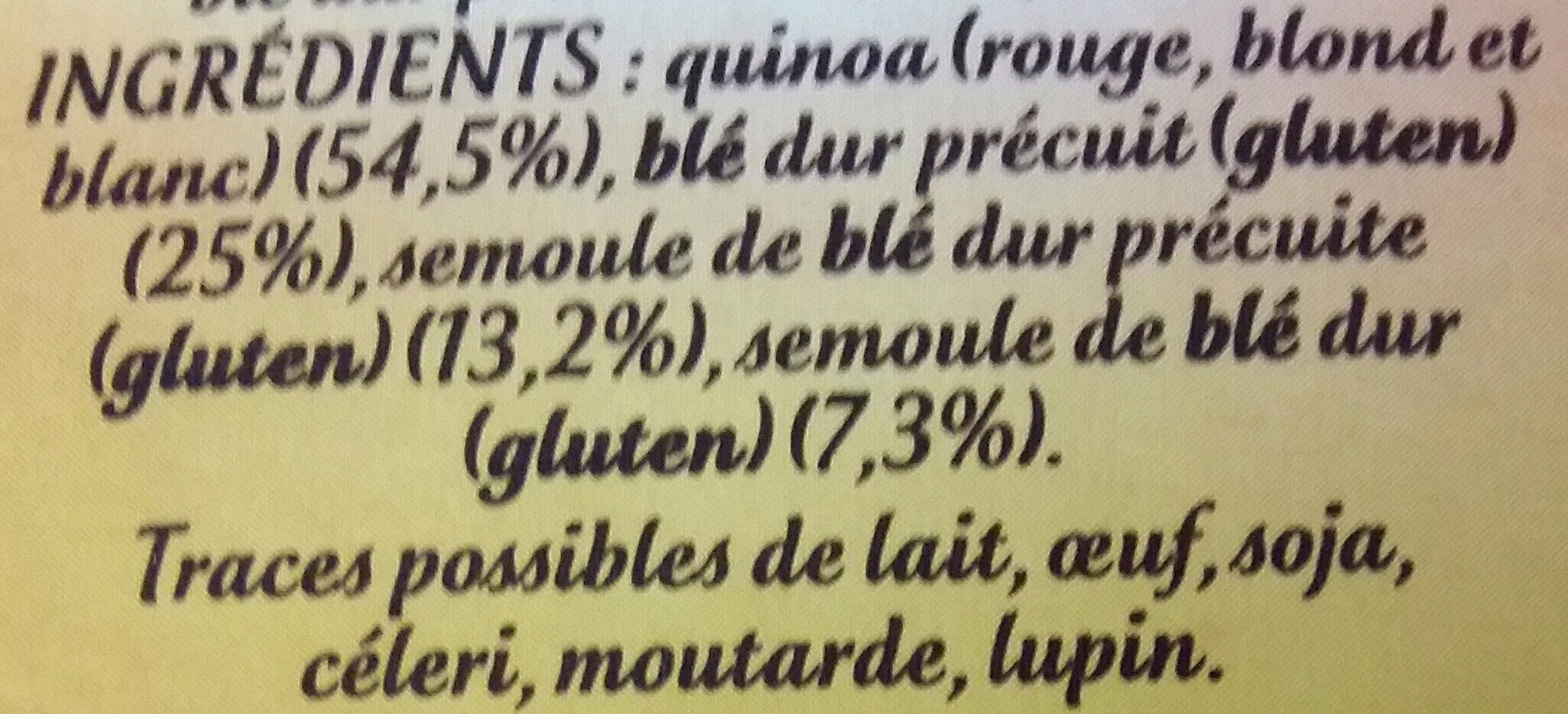 Quinoa gourmand - Ingrediënten - fr