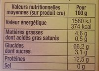 Quinoa gourmand - Nutrition facts - fr