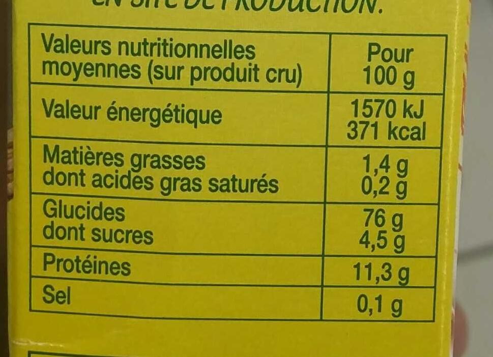 Céréales de Campagne - Informations nutritionnelles - fr