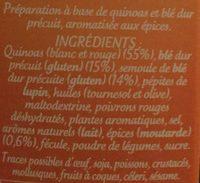 Quinoa gourmand parfumé ép. douces - Ingrédients - fr