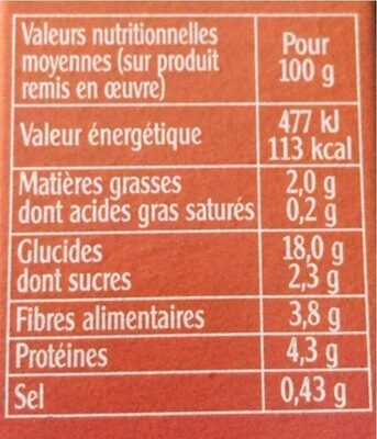 Quinoa gourmand parfumé ép. douces - Nutrition facts - en